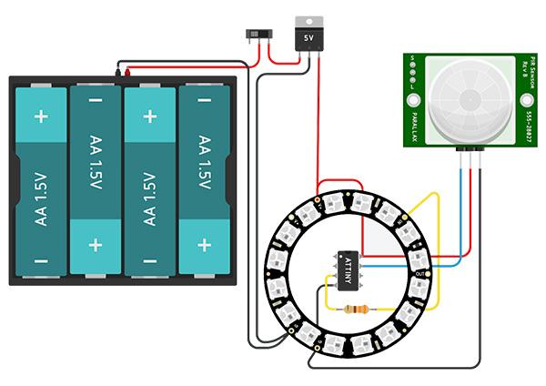 Hand wash timer realizzazione circuito