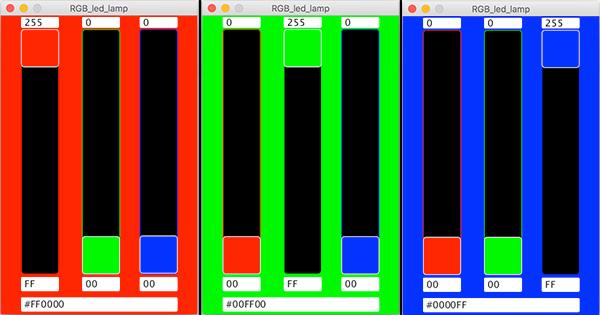 RGB WS2812 Processing Interface