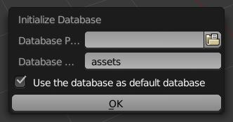 When the database is set up, you can see the absolute path to the database in the addon preferences