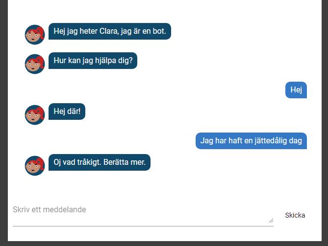 Clara sample chat