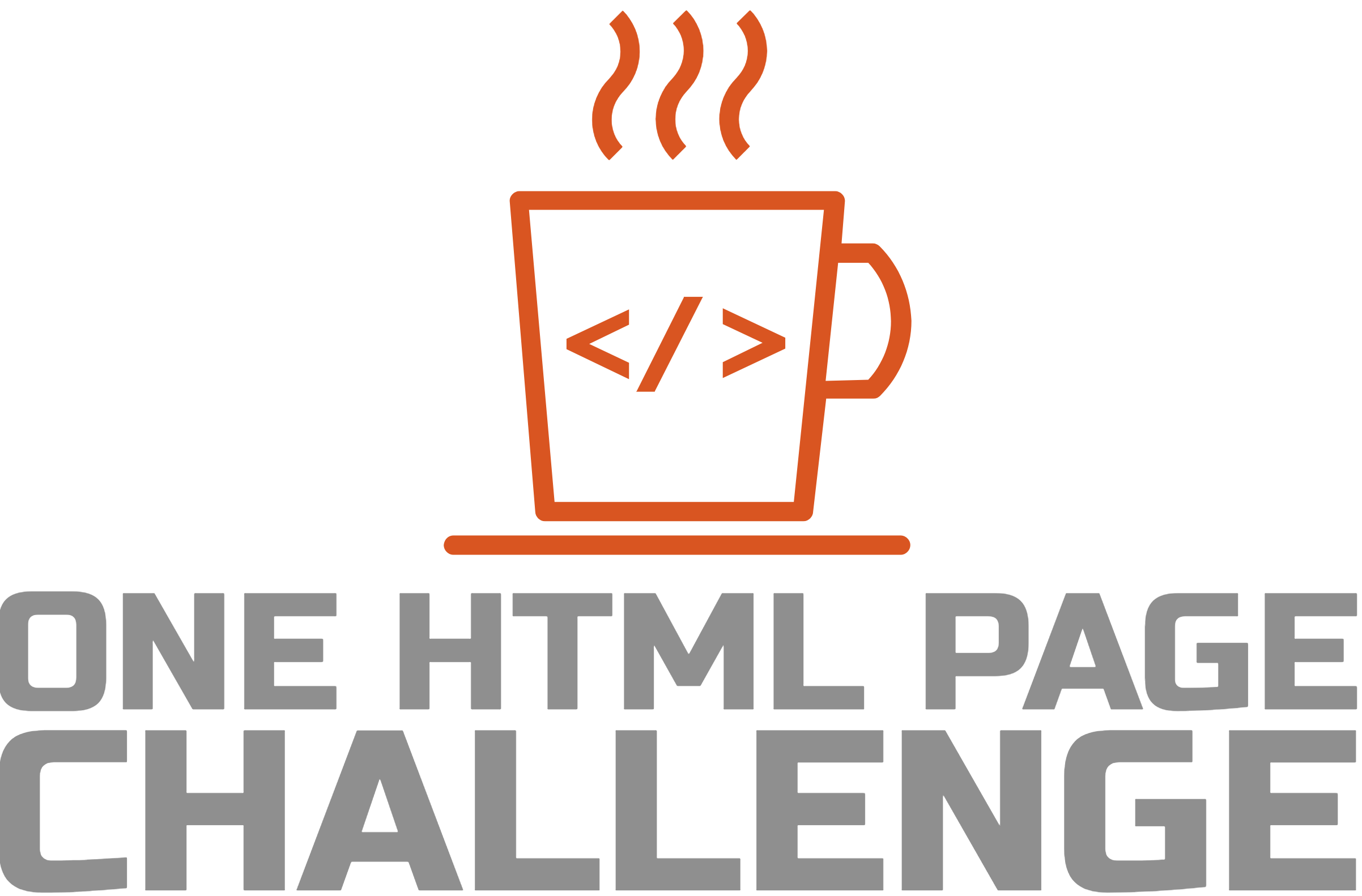 One HTML Page Challenge