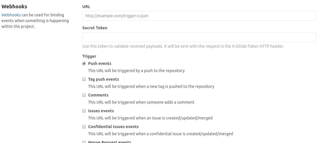 Webhooks in GitLab