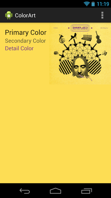 ColorArt: iTunes 11-style color matching code for Android