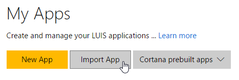 Import an Existing Application