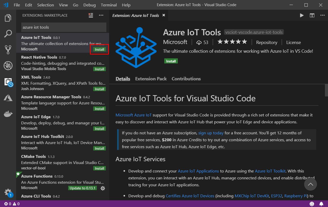Install Azure IoT Tools