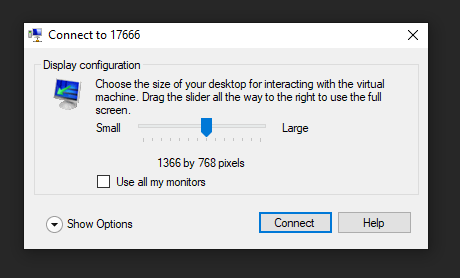 connect window prompt