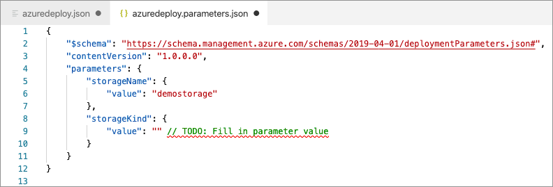 Image showing new parameter file