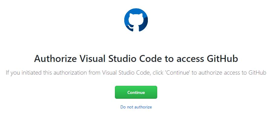Authorize Access to through GitHub
