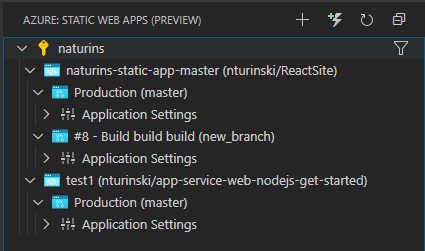 Static Web App Environments