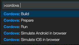 Cordova commands