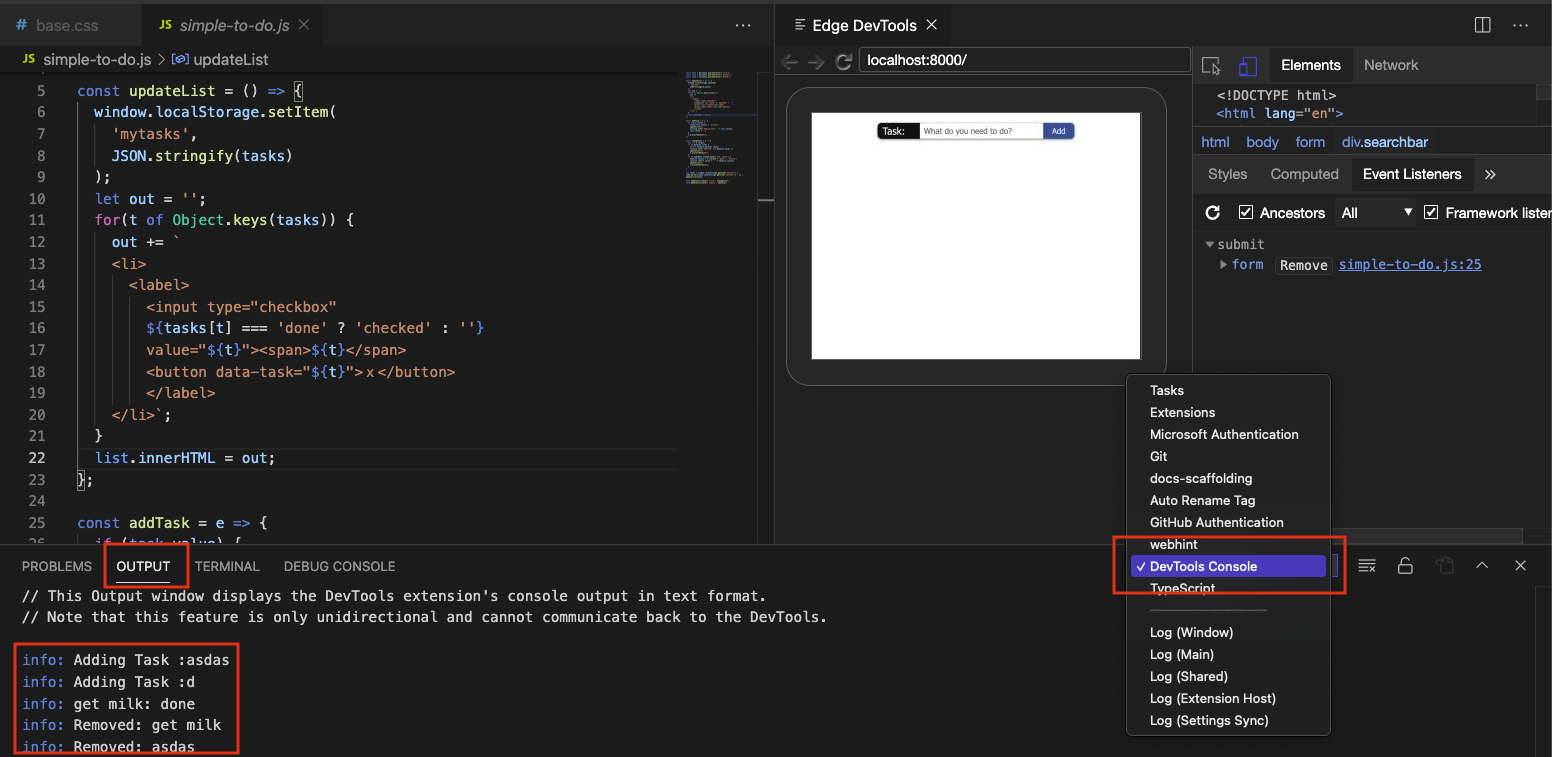 CSS links in the elements tab and