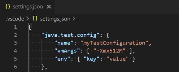 Customize Test Configurations