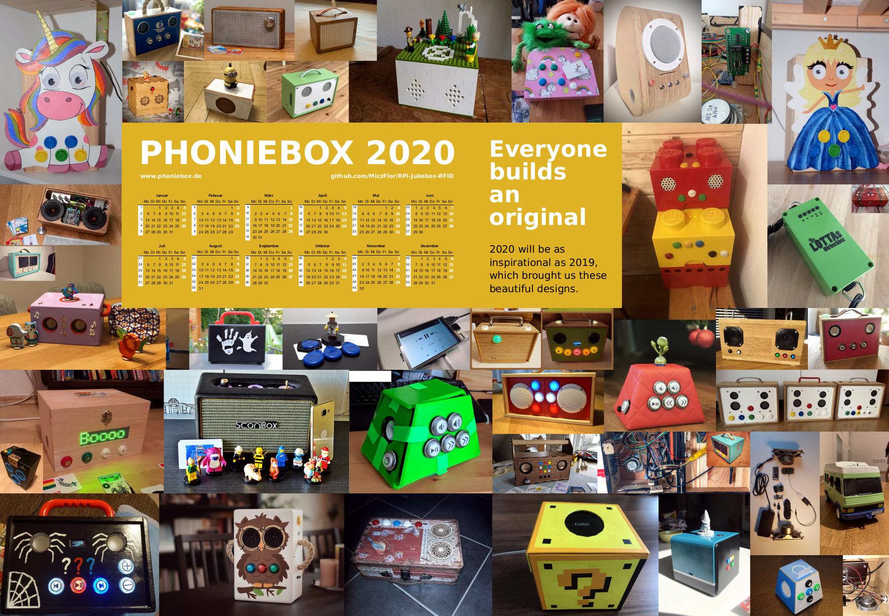 The 2020 Phoniebox Calendar