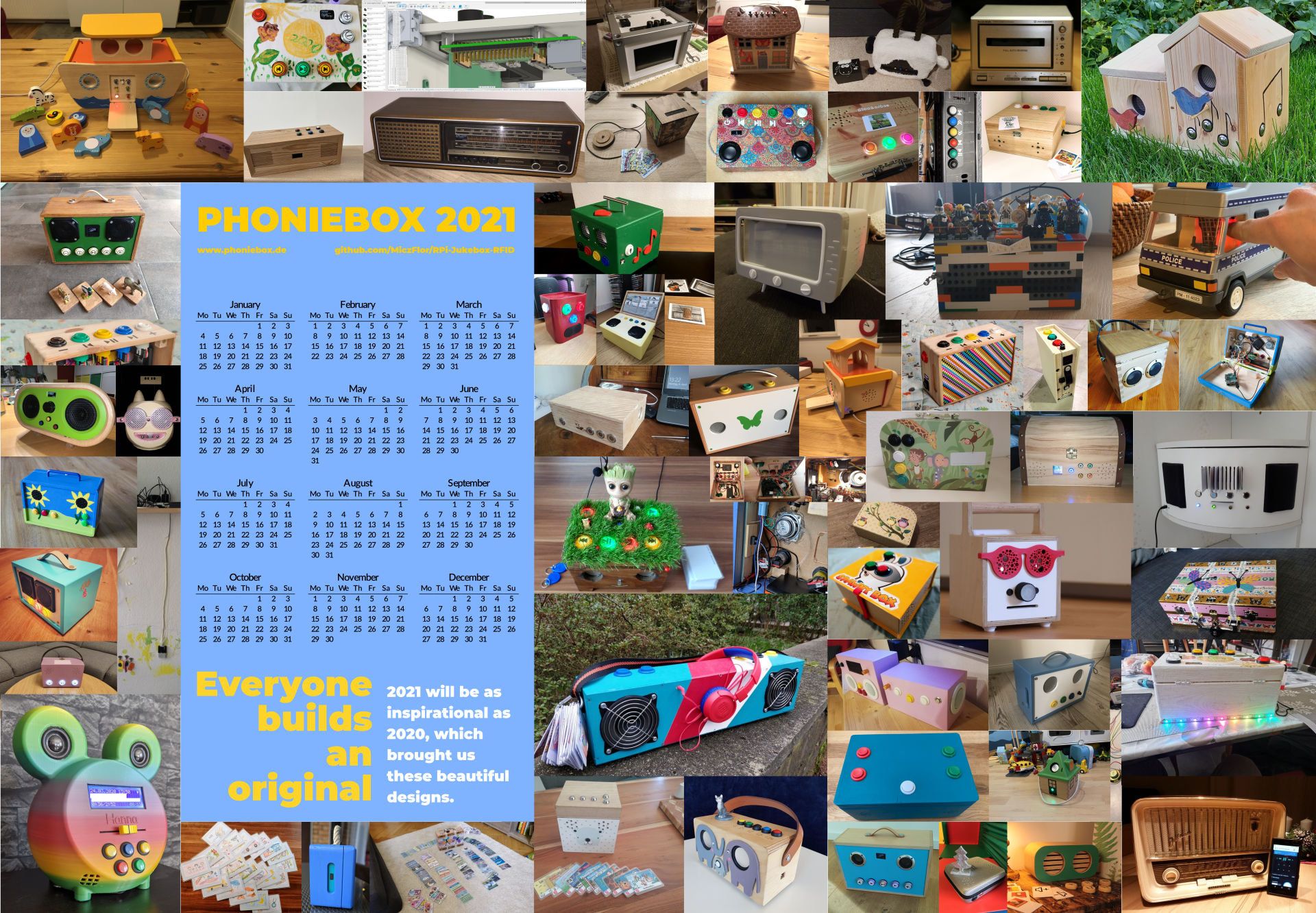The 2021 Phoniebox Calendar