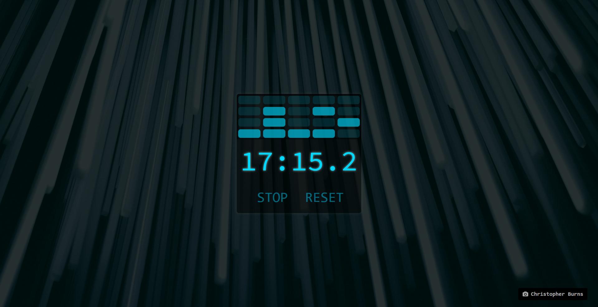 Screenshot of the Binary Timer