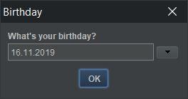 screenshot datepicker