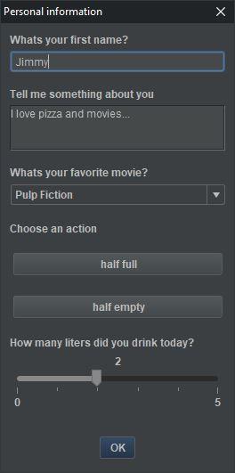 screenshot gallery dialog