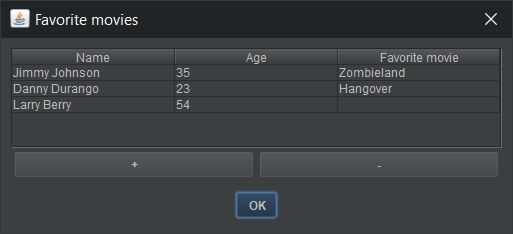 screenshot table dialog