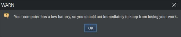 screenshot warn dialog