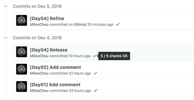 GitHub Commit Result