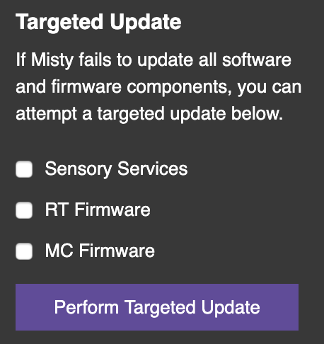 Targeted update controls