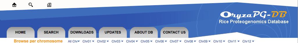 Oryza-PG database header