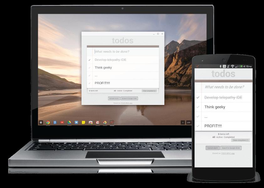 A Chrome App running on both desktop and mobile