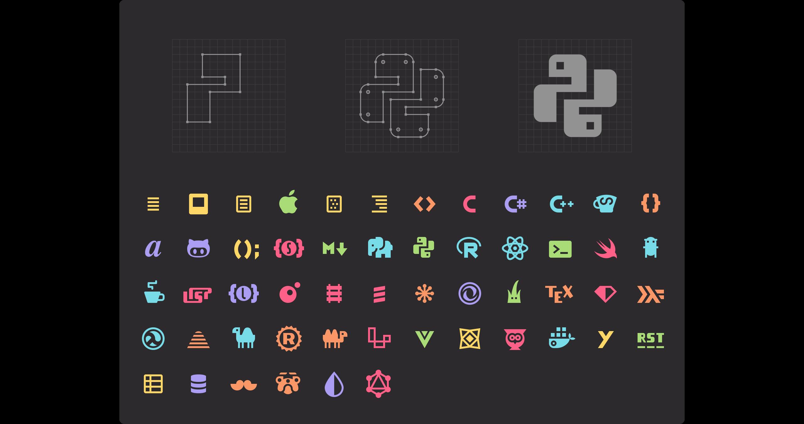 Monokai Pro Icons