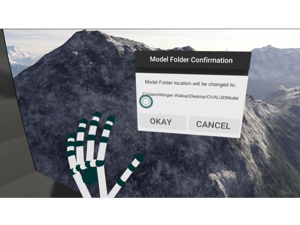 Model Folder Setup Menu