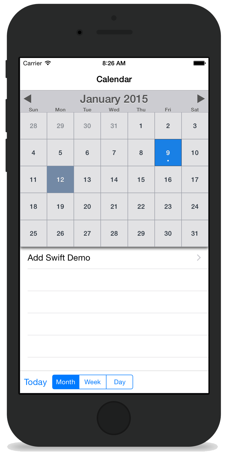MBCalendarKit on CocoaPods org