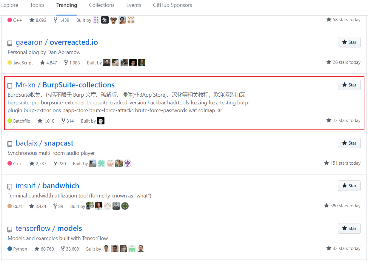 ㊗️ 📅 2020/01/03登上GitHub的trending