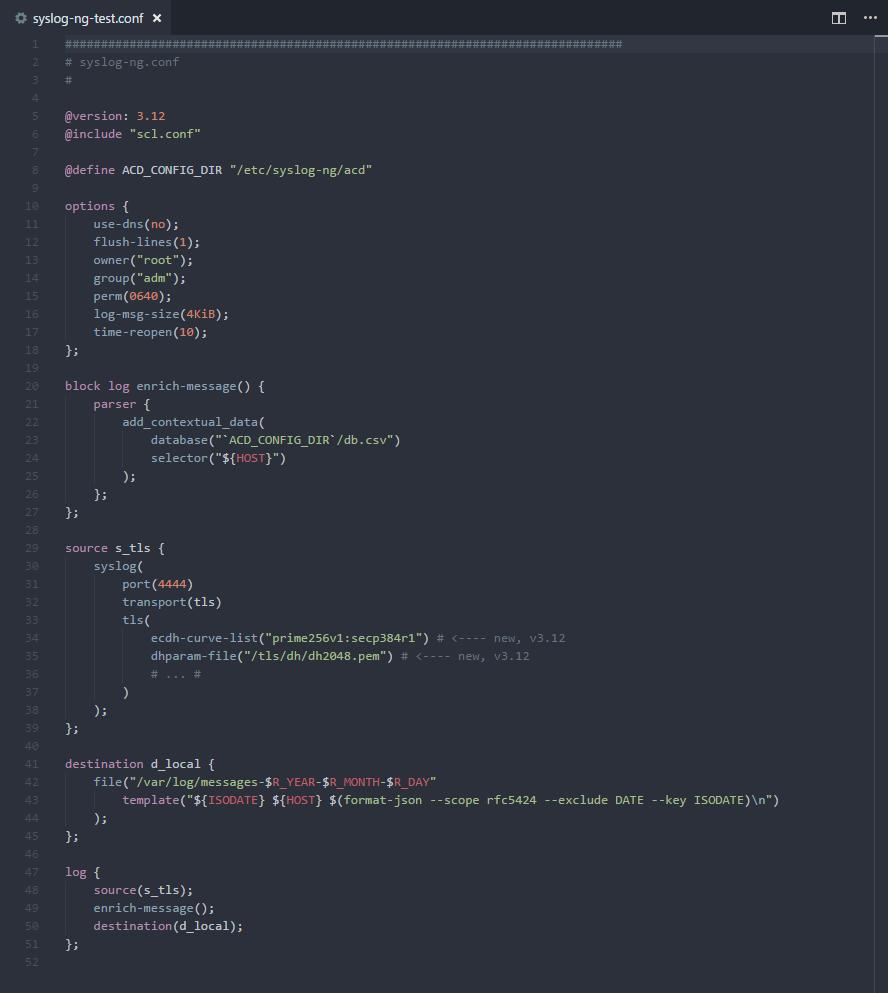 syslog-ng Syntax Highlighting