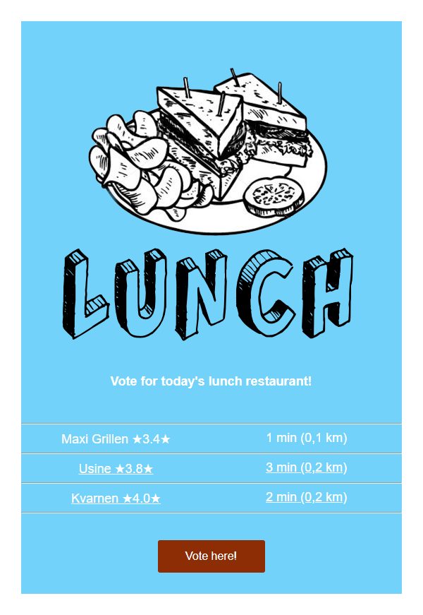 Lunch Email