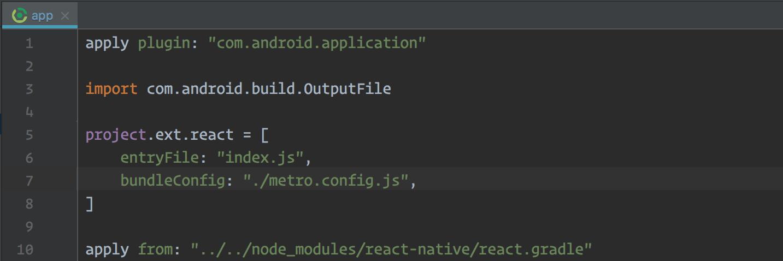 Android Studio bundle config