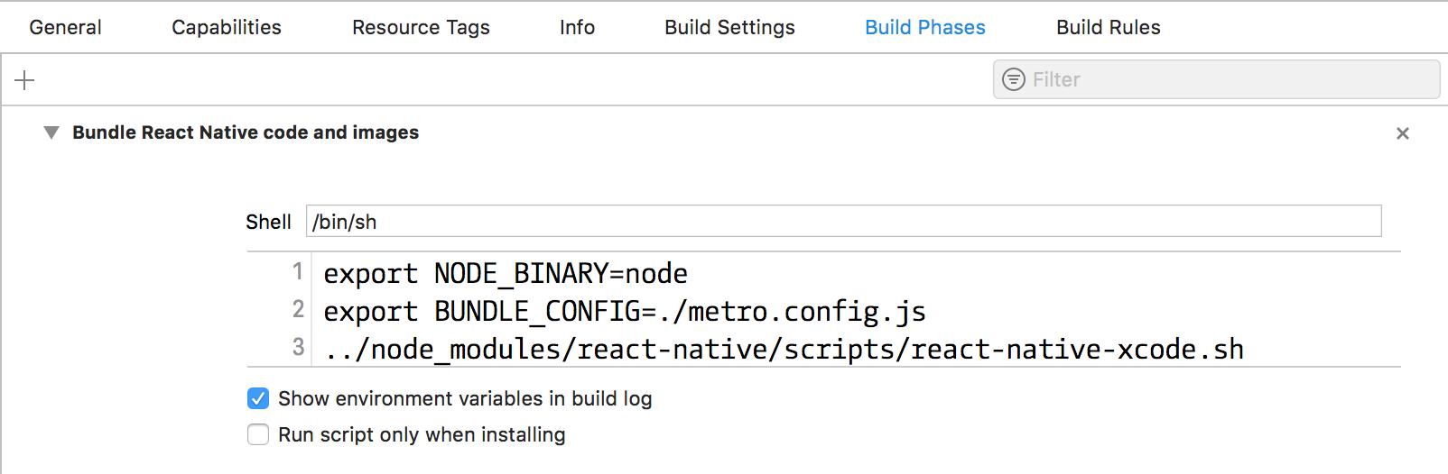Xcode bundle config