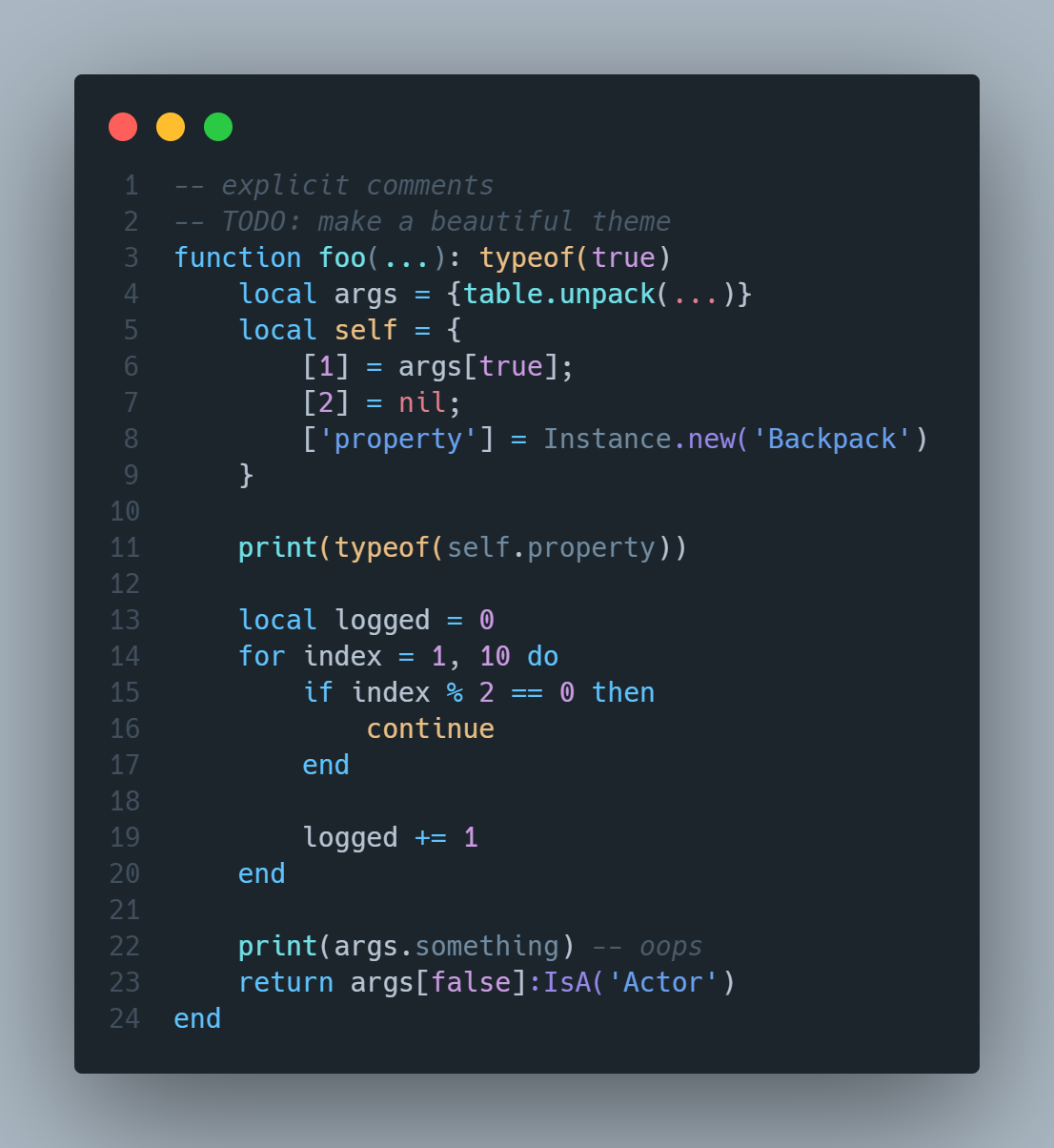 Lua Example