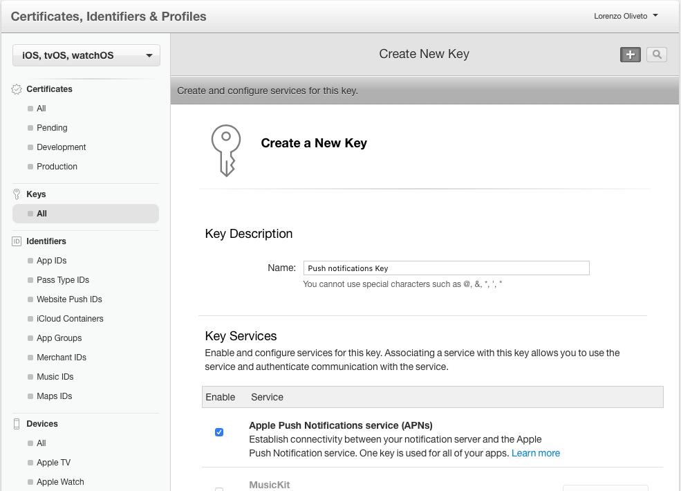 Key creation 2