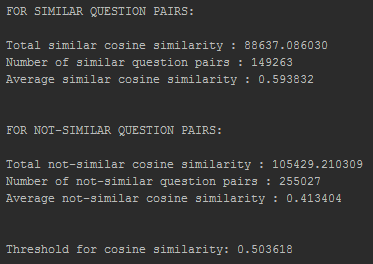 Output of cosine_similarity_threshold_finder.py