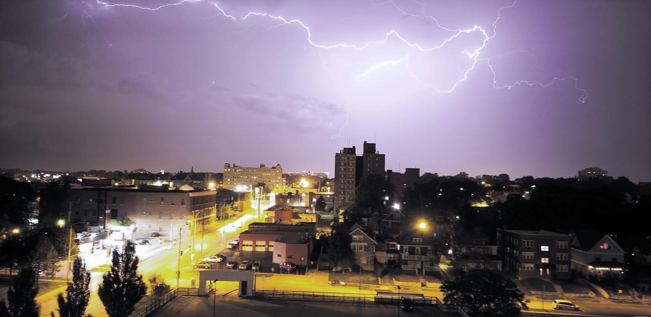 Lightning over Plexpod