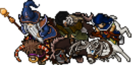 Me and my Friends in Tibia, Left To Right: Mytherin, Amel Cyrom, Martincc