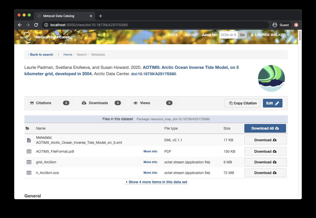 Dataset Landing Page