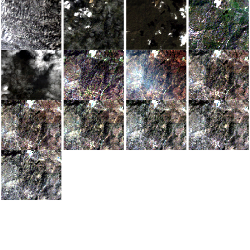 Time series of RGB images showing greenness over time for NEON's site San Joaquin Experimental Range