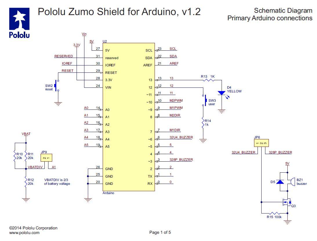 Esquema Zumo Arduino