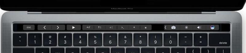 Customisable Mac touch bar