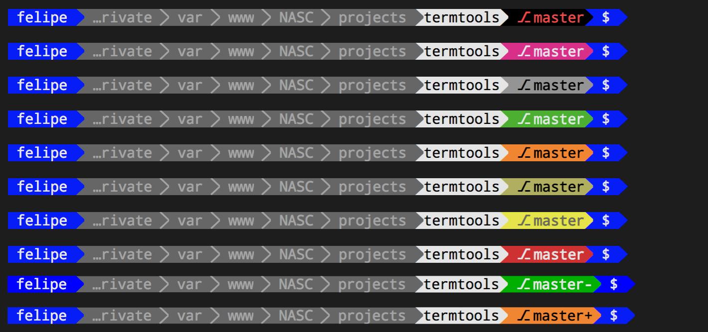 Termtools default theme