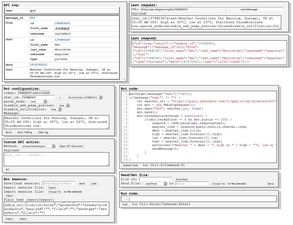 A running html bot