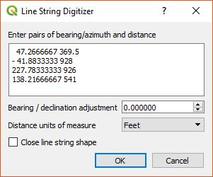 Azimuth, Distance Sequence Digitizer
