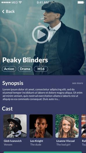 movie listings sample app