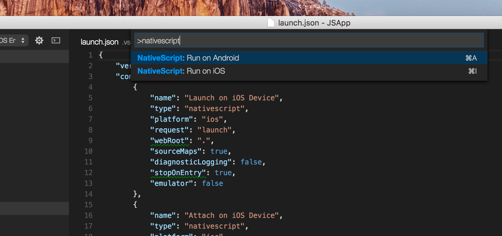 NativeScript Commands