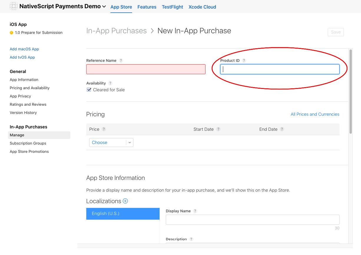 Product ID Form Apple